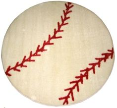rug for boys baseball room