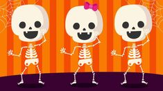 """Shake Dem Skeleton Bones"""" is a great #Halloween song to help #preschool  and   #kindergarten children learn parts of the body vocabulary as they dance along to this action-packed song!   #kidsvideos   #kidsongs"""