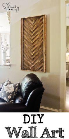 DIY Wall Art from cheap wood shims... LOVE this! #DIY @ShanTil Yell-2-Chic.com
