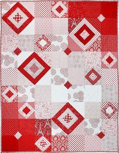 It's Hip to Be Square, free pattern, Rouge et Noir collection at Michael Miller Fabrics