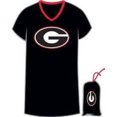 Georgia Bulldogs UGA Women's Night Shirt Tee With Bag --- http://www.amazon.com/Georgia-Bulldogs-Nightshirt-Sleepwear-Carrying/dp/B002KP6FRA/?tag=zaheerbabarco-20