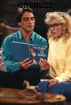"""""""TONY!"""" 8-)  hahaha, Angela's giant glasses!    Who's The Boss? - Tony Danza and Judith Light"""