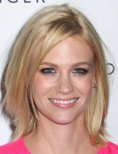 Blonde Long Side Bangs Haircut with Layered Hair for Women