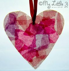Milk Bottle Stained Glass Hearts great for Mother's Day or Valentines.