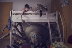 Terreur by Laure Fauvel shows childeren attacking their fears. Hard not to smile!