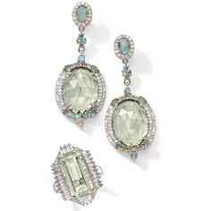 green amethyst jewelry, ross simon, hollywood glamour, jewelri piec, jewelri design, amethyst jewelri