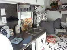 I am always have a pull towards this color combo. RV Remodel Inspiration-- Vintage 1970 shasta travel trailer