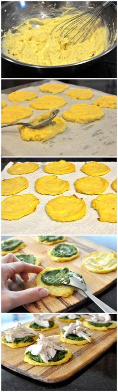 toptenlook: Mini cauliflower- Chicken Pesto Pizzas