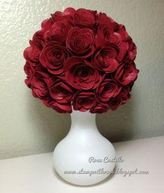 Spiral Flower Die bouquet