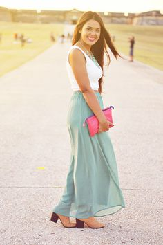 How to wear a maxi skirt (2)