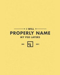 I will properly name my PSD layers