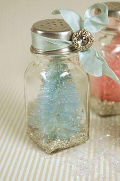 Bottle Brush Tree in Salt Shaker