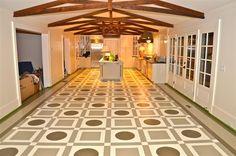 Geometric Painted Floor....