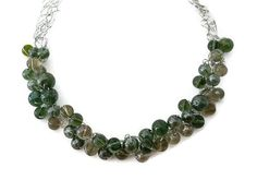 Winter Green Silver Holiday Choker Necklace by JustAspire on Etsy,