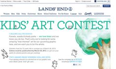 LANDS' END HOSTS AN ART T-SHIRT CREATING CONTEST  Kids Age 5 to 12 Create Tree Themed Art in Tee Creating Contest