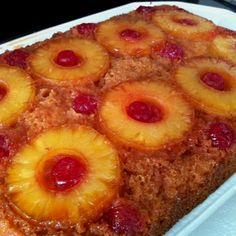 Pineapple Upside Down Cake - Betty Crocker.  This was SO tasty and easy to make.  5 stars!