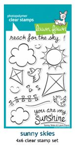 Lawn Fawn SUNNY SKIES Clear Stamps