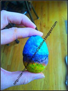 DIY Easter egg soap. Needs only 2 ingredients!