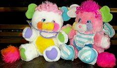 Popples 1980's toys dolls stuffed animals