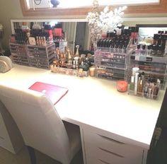 mirror, makeup vanities, makeup organization, makeup storage, dream, desk, vanity tables, makeup studio, bedroom