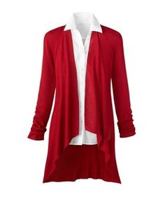 want this RED cardigan from Coldwater Creek! (rarely do I splurge on something so expensive)