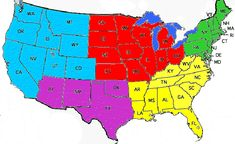 Us Map Th Grade - Map of the 5 regions of the us