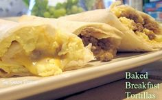 Baked Breakfast Tortillas & Giveaway (begins 6/27 & ends 7/4)!
