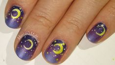Crescent Moon - Halloween Nail Art Tutorial