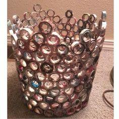 Recycled Magazine Wastebasket Craft