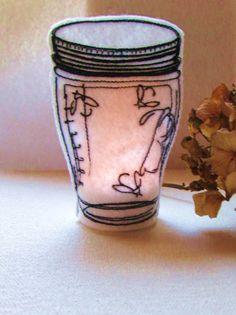 Firefly Mason Ball Jar Tea Light Cover by Shenanagans on Etsy, $5.50