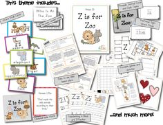 Z is for Zoo Preschool Lesson Plans download.