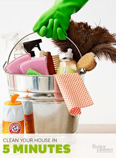 The best ways to clean your house, fast!