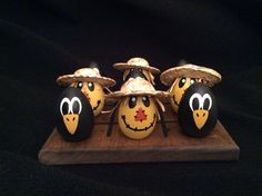 SCARECROW and CROW TicTacToe by WOODuPlayGames on Etsy, $15.95
