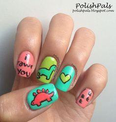 DIY dino manicure