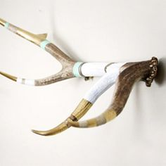 Ok, I don't like decorating with deer heads on the wall or any type of taxidermy, but this I would do.....DIY antler coat rack and jewelry holder made with deer sheds