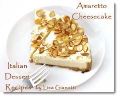Amaretto Cheesecake - smooth as velvet!