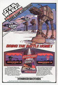 1982 Ad for 'Empire Strikes Back' Atari 2600 game.