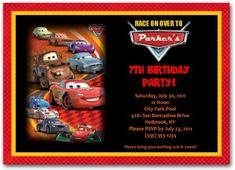 Cars Birthday Invitation | personalized cars invitation | cars birthday party  #carsinvitations #disneycarsinvitations #disneycarsparty