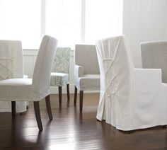 mine ... decor, chair cover, dine room, potteri barn, barn inspir, dining chairs, slipcovers, desk chairs, napa