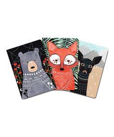 Look at this #zulilyfind! Woodland Creature Notebook Set #zulilyfinds