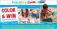 Enter the National Learn to Swim Day coloring contest on Facebook with your child! https://www.facebook.com/swimways/app_451684954848385