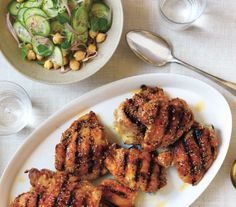 Spiced Chicken With Chickpea and Cucumber Salad recipe