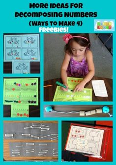 More Ideas for Decomposing Numbers- (Freebies!)