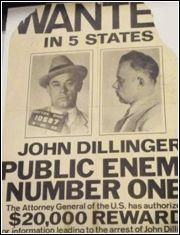 Vintage bank robber! John Dillinger