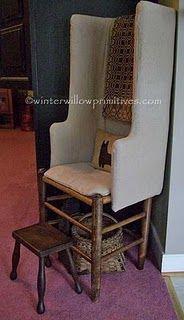 primitive make-do chair