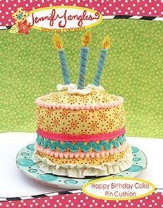 Happy Birthday Pin Cushion - via @Craftsy