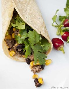 Ground Turkey Chipotle Taco or Burrito Filling- delicious! #burritorecipe #tacorecipe