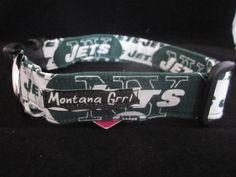 NY Jets Dog Collar