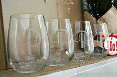Gorgeous stemless wine glasses, personalized for gift giving #PCHoliday #sponsored