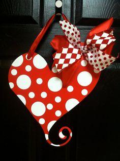 Valentines Day heart door hanger